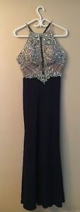 Gorgeous Navy Blue Jovani Grad Gown | Size 8