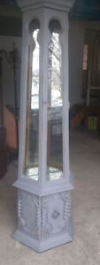Moving- Beautiful Grey China Cabinet with Lighting