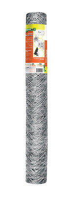 Garden Zone Poultry Netting 24 In. H X 50 Ft. L 20 Ga. Silver 182450