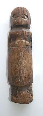 MUCH FOUNDLED 19TH CENTURY NEPALESE CARVED WOOD VOTIVE FIGURE - 6