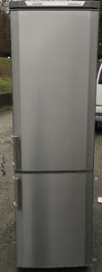 "GE 24""W scratch den bottom amount stainless steel fridge freezer"