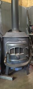 Iron smith wood burning stove