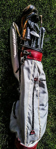 Vintage Golf Clubs with Carry Bag Balls Tees