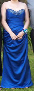 BEAUTIFUL SOPHIA TOLLI ONE OF A KIND!!! ROYAL BLUE PROM DRESS WI