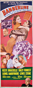 Original Theatre insert poster for 1951 MGM Movie - Bannerline
