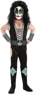 Catman KISS Band Peter Criss Rock Star Fancy Dress Up Halloween Child Costume
