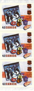 Canada Stamps - NHL 1917-1992 The Six-Team Years 1942-1967 42c West Island Greater Montréal image 1