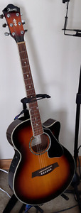 IBANEZ AEG10EVS ACOUSTIC ELECTRIC THINBODY GUITAR