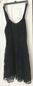 Free People Black, Lace, Cocktail Dress