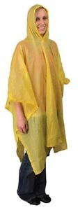 Rain Poncho -.15mm PVC Poncho - 4 Colors Available - New in PKG.