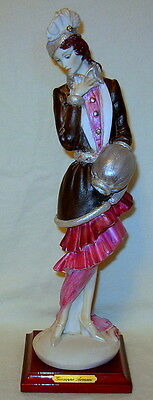 "Vintage Giuseppe Armani ""Lady with Muff"" Florence Italy Figurine - Excellent!"
