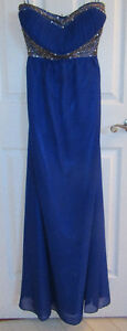 Dress (size 4), Royal Blue, Full Length, Chiffon