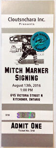 Mitch Marner Auto Maple Leafs 100th Anniversary Logo Puck Kitchener / Waterloo Kitchener Area image 2