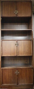 Solid wood cherry color wall unit for $50 negotiable