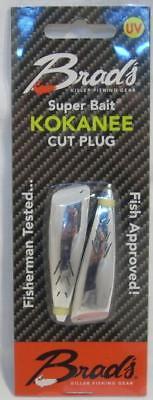2 Pack Brads 2  Kokanee Cut Plugs Silver Bullet Fishing Lures Tpkcp01 New