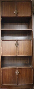 Solid wood cherry color wall unit for $30 negotiable