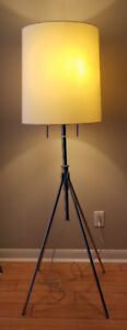 West Elm Adjustable Metal Floor Lamp - Polished Nickel