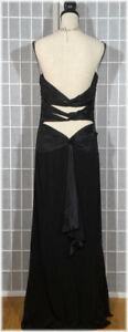 Robe Fetes Noir DOS Ouvert-open back dress-gown 12 Large