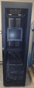 """42u 39"""" rack mount cabinet pour serveur + moniteur/clavier/pa"""