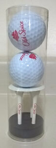 2 Old Spice Golf Balls and 4 Tees Set
