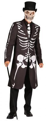 Walking Dead Horror Zombie Gothic Kostüm Mantel Kleid Frack Umhang Skelett Jacke
