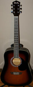 New GWL George Washburn Limited Acoustic Guitar, Bag, Stand Etc