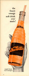 1956 half-page magazine ad (5 x 14) for Nesbitt's Orange
