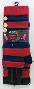 Digital Clothing Arm and Leg Warmers Set Maroon and Navy