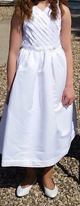 White Dress Girls Size 12 - Only Worn Once Regina Regina Area image 1