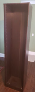 Never used Ikea Pax corner unit, black-brown with 3 shelves