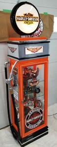 Harley Davidson Kustom  Display Cabinet, Gas Pump Petro