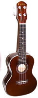"Brand new 23"" concert size shiny coffee brown ukulele with a bag"