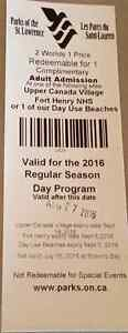 Upper Canada Village / Fort Henry Tickets Adult