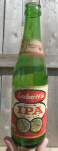 VINTAGE 1950's LABATT'S IPA (12 OZ.) PAPER LABEL BEER BOTTLE