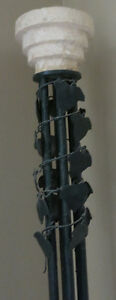 Marble and Metal Leaf Accented Floor Lamp