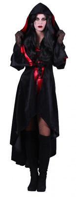 Walking Dead Girl Horror Zombie Gothic Kostüm Mantel Kleid Frack Umhang Kapuze ()