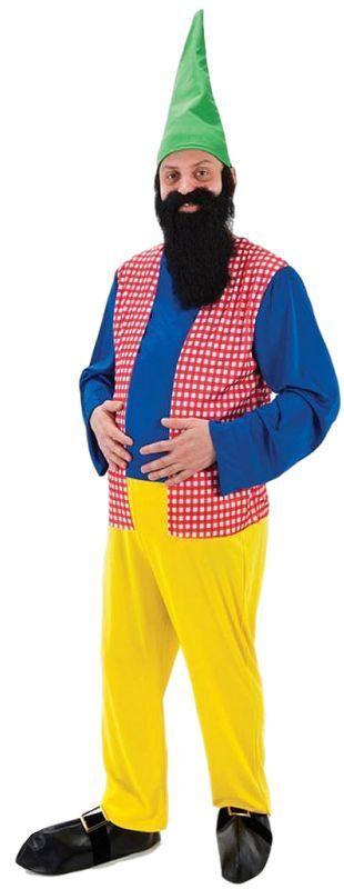 Da Uomo BIANCANEVE E I 7 SETTE NANI GNOMO NANO Fancy Dress Costume Outfit