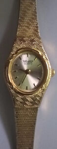 Vintage Sharp Quartz Gold Tone Ladies Watch Model # 343464