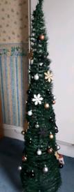 pop up slim xmas tree