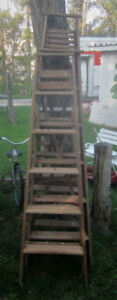 Wooden Ladders, Garden Decor, Painted Paddles