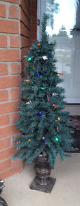 Christmas Tree in  Ceramic Pot for Front Entry Way or Porch