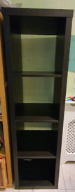 Ikea Shelving unit, black-brown42x147 cm
