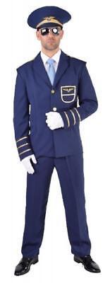 Flugkapitän Kostüme (Flugkapitän Flug Kapitän Jet Pilot Pilotenkostüm Anzug Kostüm Uniform Flieger)