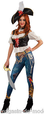 Pirat Piratin Kostüm  Halloween Fasching Karneval 34-38