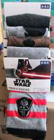 Star Wars socks, 4 pairs, size 6-8.5, brand new