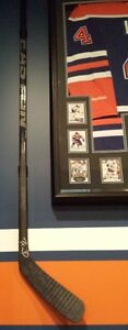 Autographed Taylor Hall framed(shadow box) Jersey, picture+stick Strathcona County Edmonton Area image 2