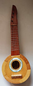 Vintage Wooden/ Coconut Decorative Ukulele Toy