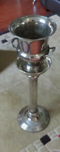 Silver-plated champagne bucket and stand