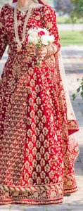 Selling red bridal lengha - brand new