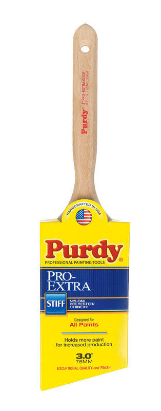Purdy Pro-Extra Glide  3 in. W Angle  Nylon/Polyester/Chinex  Paint Brush